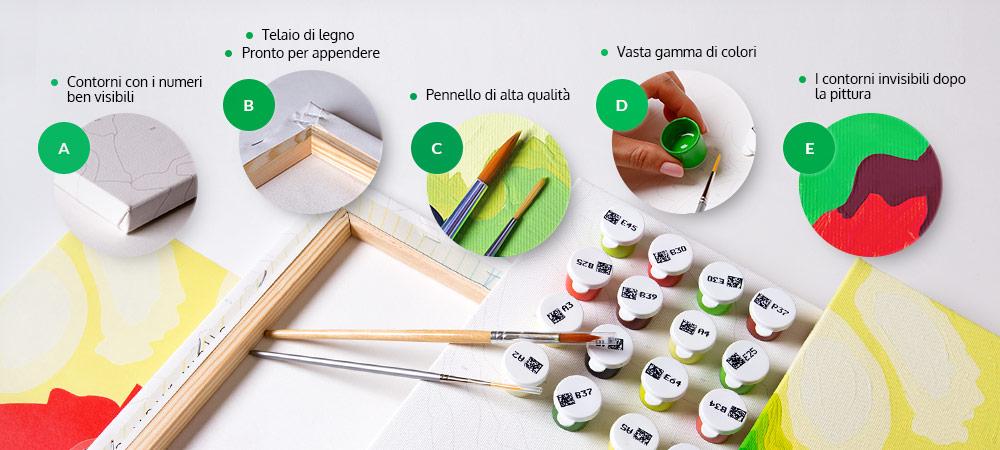 Kit per dipingere con i numeri per adulti