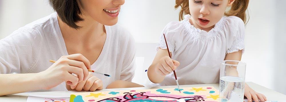 Kit per dipingere con i numeri per i bambini