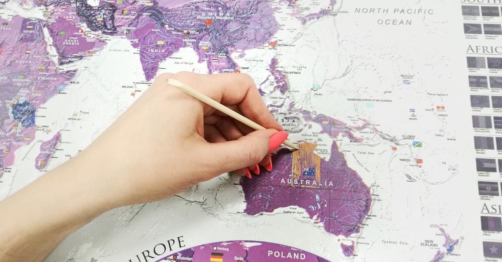 Zdrapki - Kolorystyczna mapa