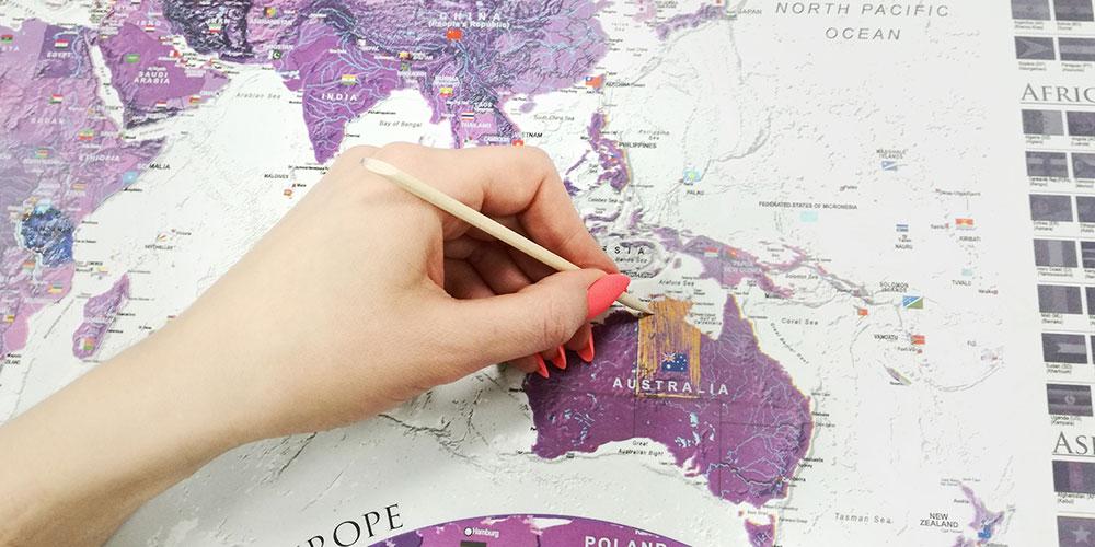 Zemljevid za praskanje
