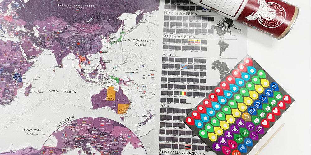 Zoškrabávacia mapa
